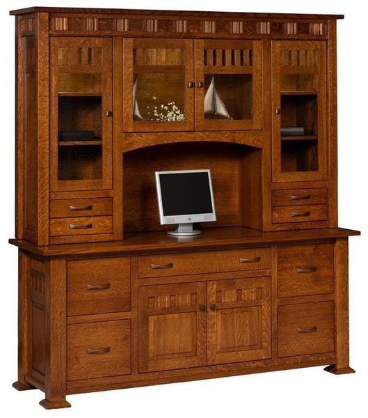 Amish Keystone Credenza with Optional Topper