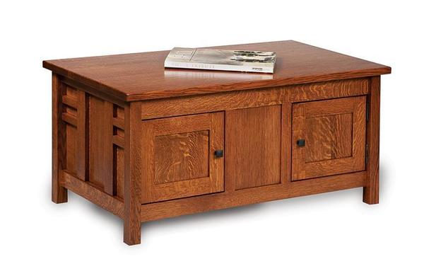 Amish Kascade Mission Closed Coffee Table