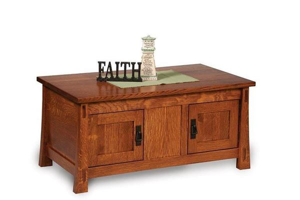 Amish Modesto Mission Coffee Table with Doors