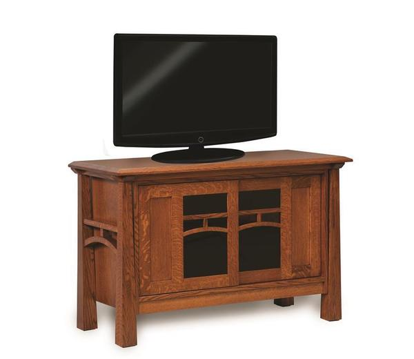 Amish Artesa LCD TV Stand with Two Doors