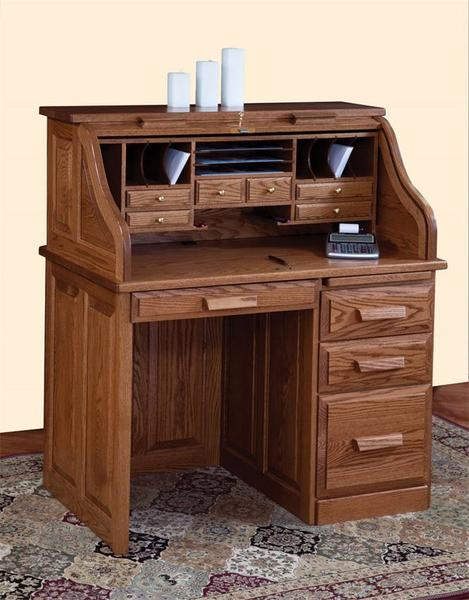 Amish Traditional Small Roll Top Desk