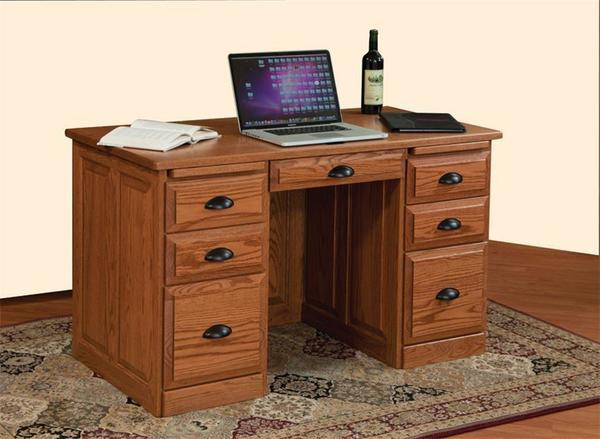 Amish Traditional Desk with Raised Panel Back
