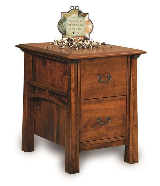 Amish Artesa Two Drawers File Cabinet with Finished Backside