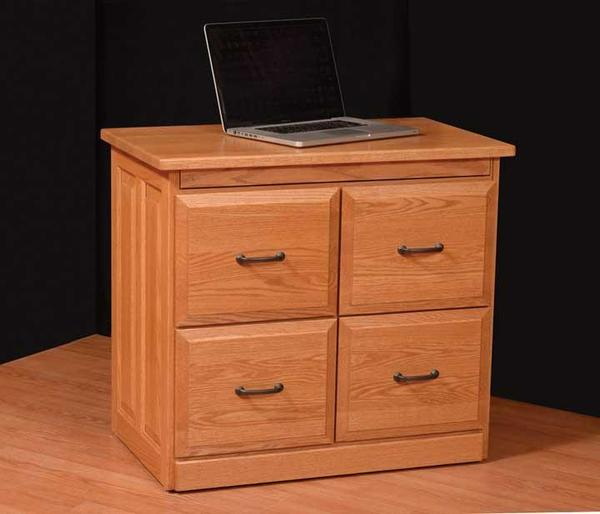 """Amish 34"""" File Credenza with Pullout Top"""