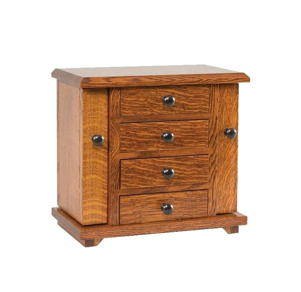 "Amish 13"" Dresser Top Jewelry Cabinet"