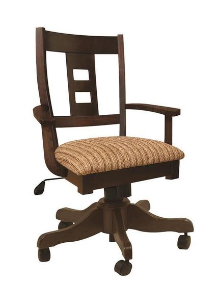 Amish Cana Valley Gas Lift Desk Chair