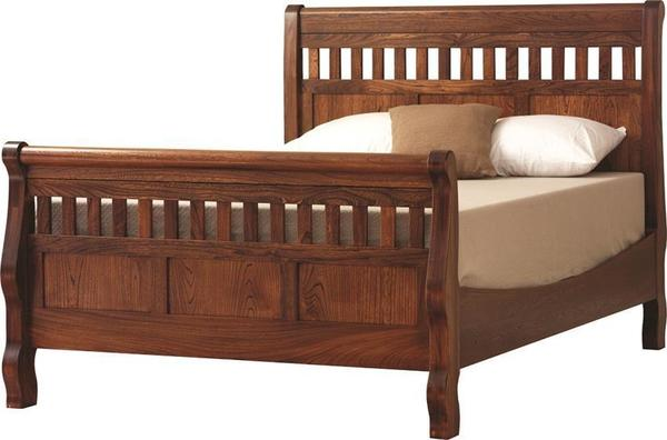 Amish Country Slat Panel Sleigh Bed