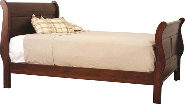 Amish Waterfall Sleigh Bed