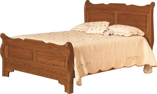 Amish Berkshire Colonial Sleigh Bed