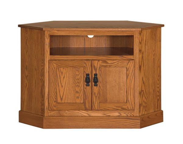 """Amish 44"""" Mission Corner TV Stand with 6"""" Opening"""
