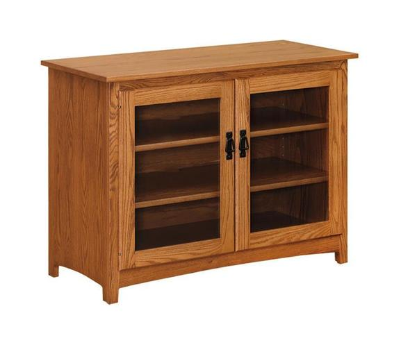 "Amish 46"" Mission TV Stand with 2 Doors"