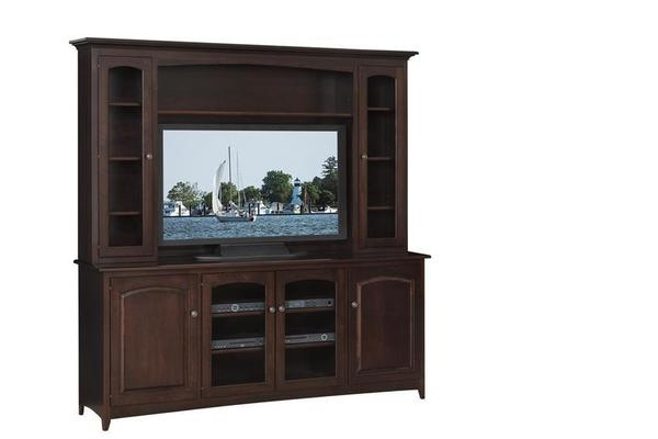"Amish Manchester 76"" Hutch-Top Entertainment Center"