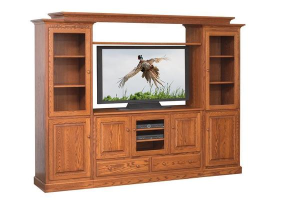 Shaker Tv Stand With Two Side Towers From Dutchcrafters Amish