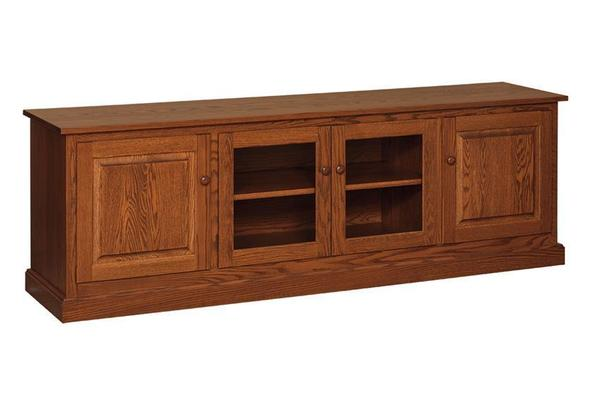 "Amish 76"" Shaker Flat Screen TV Stand"