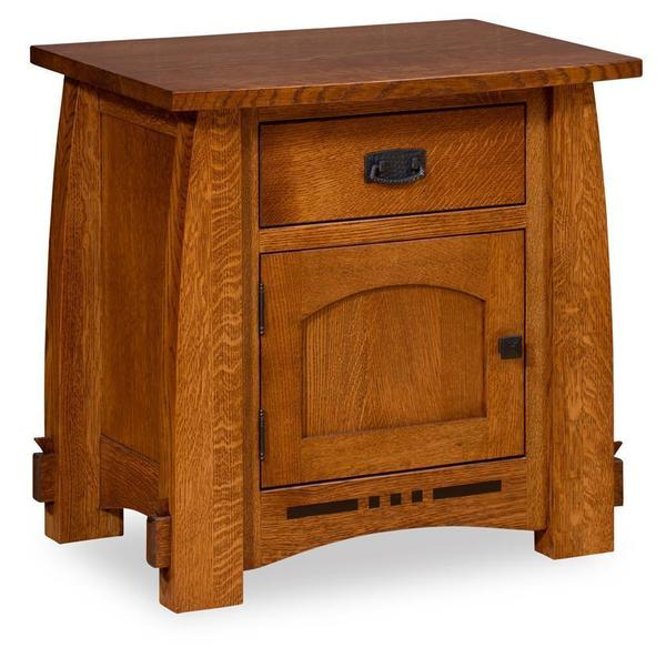 Amish Collette Nightstand with One Drawer