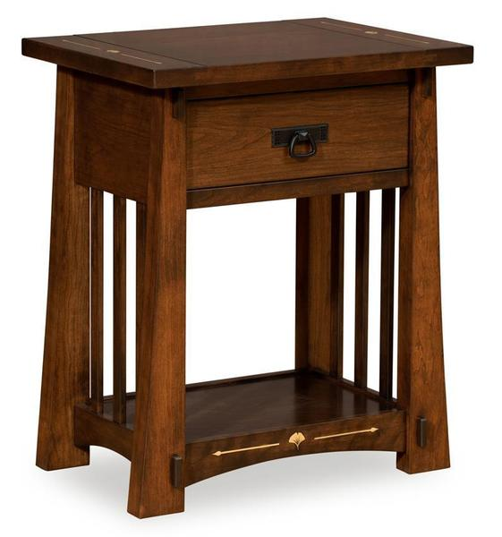 Amish Litchfield Nightstand with Open Slat
