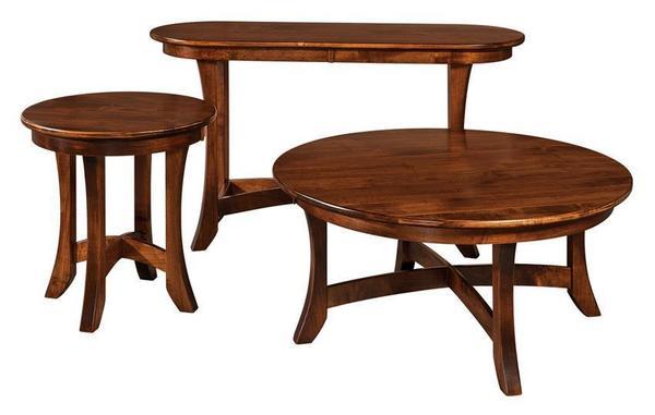 Amish Carona Oval Sofa Table