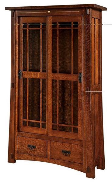 Amish Morgan Full Glass Bookcase