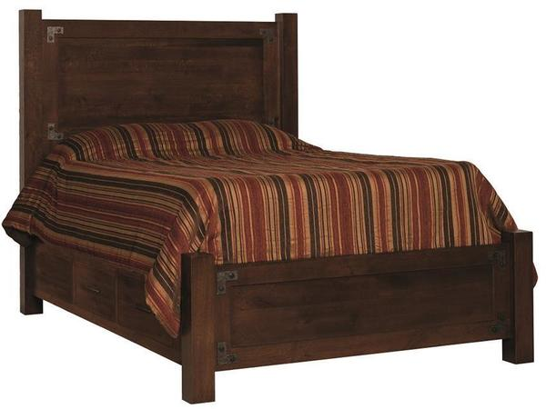 Amish Mary Ann Panel Storage Bed