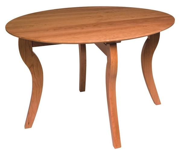Amish Ripple Back Round Dining Table
