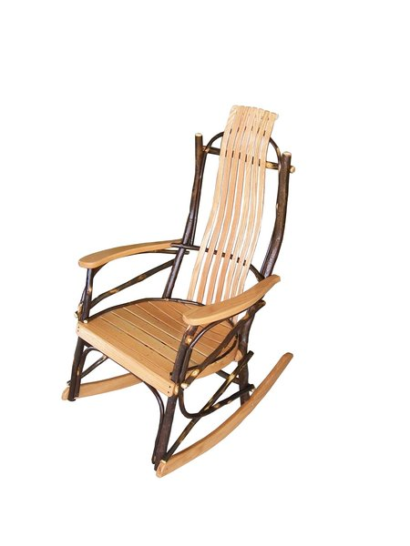 Amish Made Hickory Wood Rocker