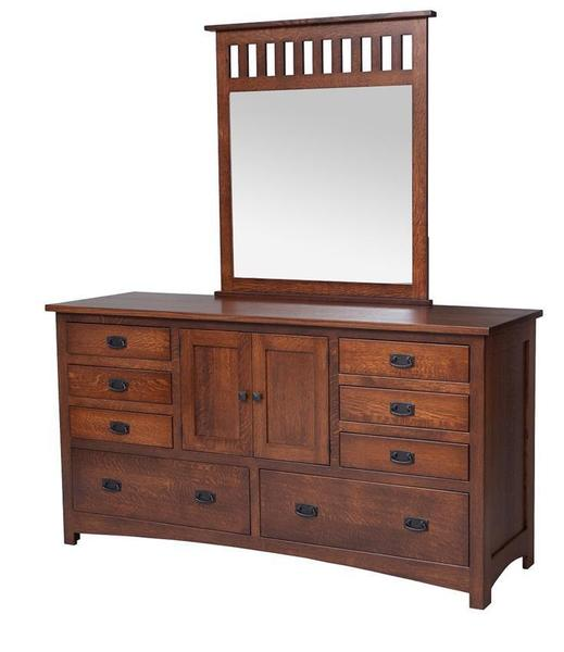 Amish Mission Dresser with Optional Mirror
