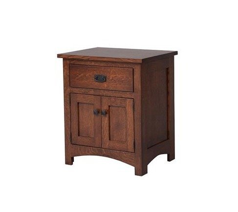 Amish Mission Two Door Nightstand