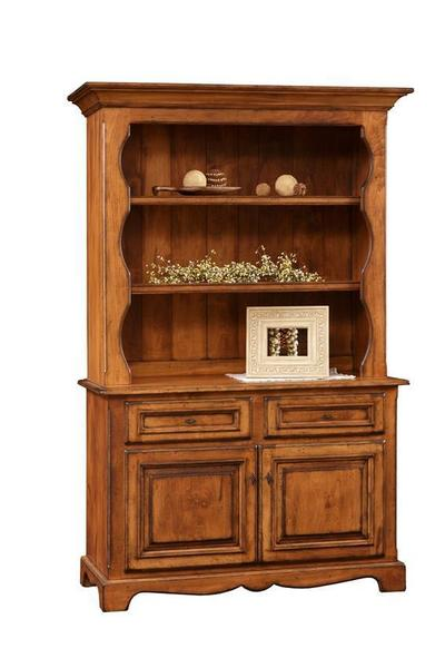 Amish Jasper Two Door Dining Hutch with Open Top