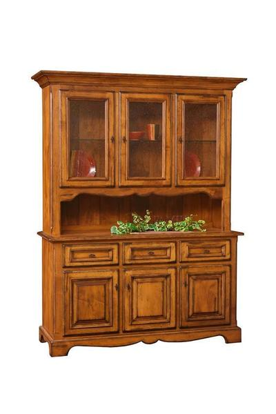 Amish Jasper Three Door Dining Hutch