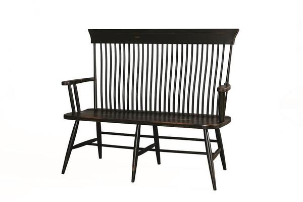 Amish Plymouth Arm Bench