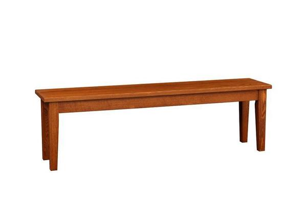 Amish Shaker Backless Dining Bench