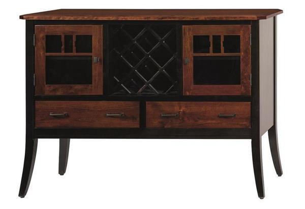 Amish Bristol Bar and Wine Cabinet