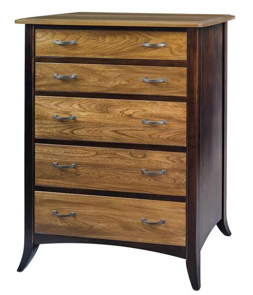 Amish Christy Five Drawer Chest of Drawers