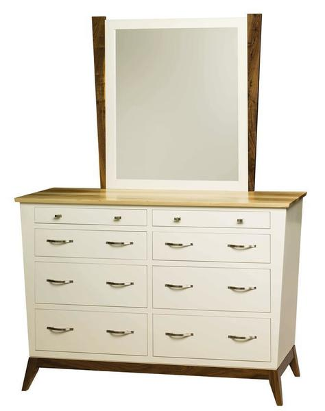 Amish Metro Eight Drawer Dresser with Optional Mirror