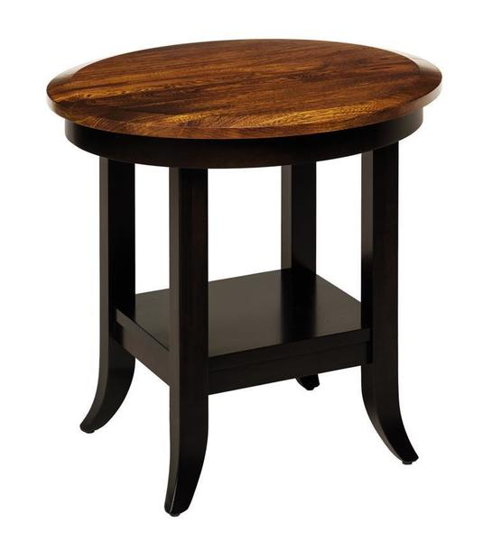 Amish Christy Round End Table