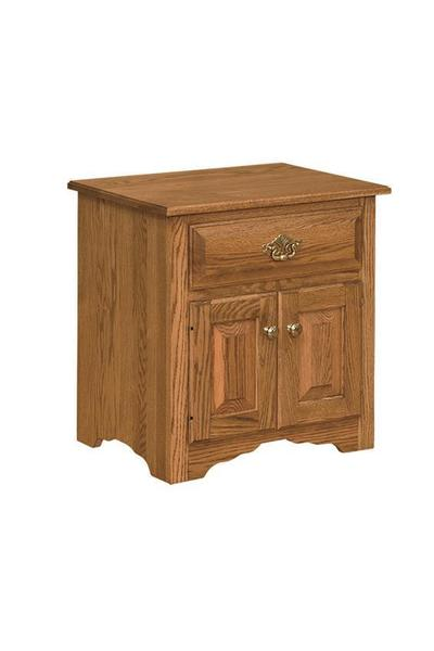 Amish Eden Nightstand with Two Doors and Drawer