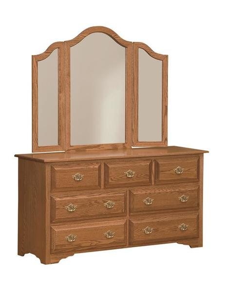 Amish Eden Dresser with Optional Mirror
