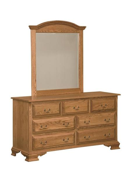 """Amish Lancaster 63"""" Dresser with Seven Drawers"""