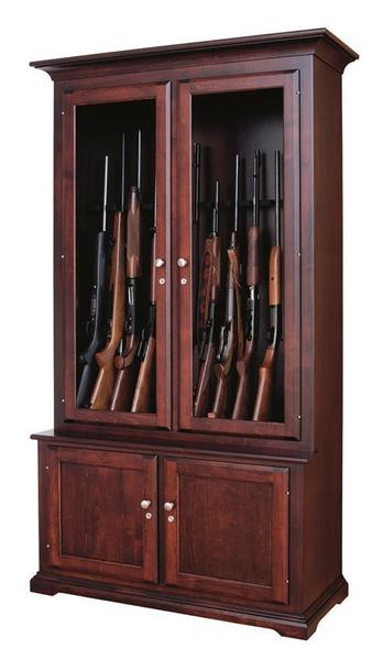 Amish Handcrafted 12 Gun Cabinet From Dutchcrafters Amish