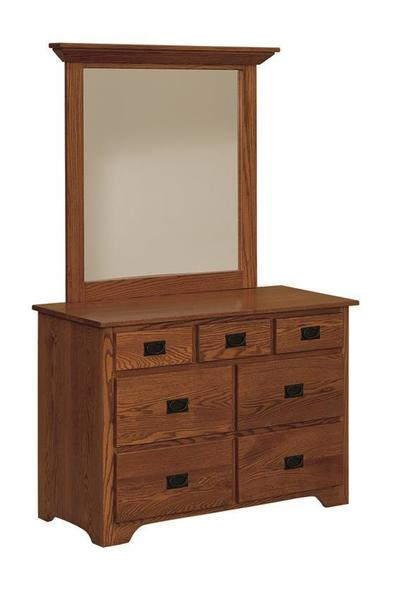 "Amish Mission 48"" Dresser with Option Mirror"