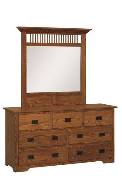 "Amish Mission 63"" Dresser with Option Mirror"