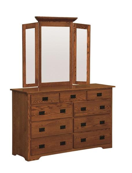 Amish McCoy Mission Dresser with Optional Mirror