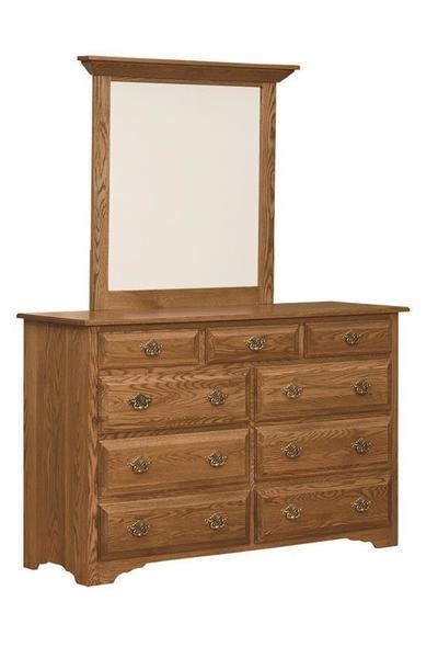 Amish Eden Dresser with Optional Mirror