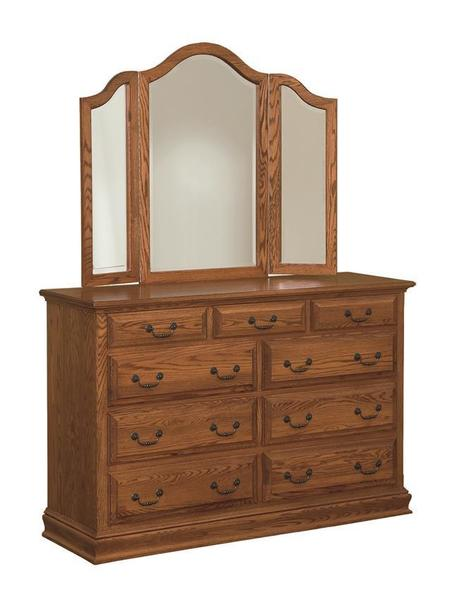 Royal Amish Dresser with Optional Mirror