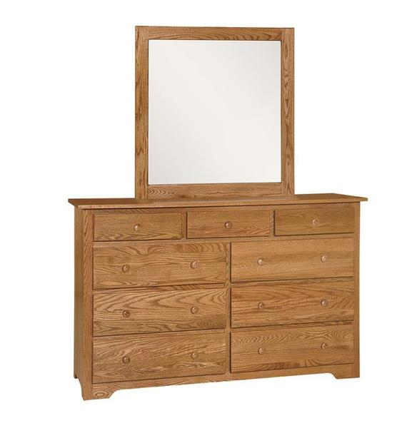 Amish Shaker Dresser with Optional Mirror