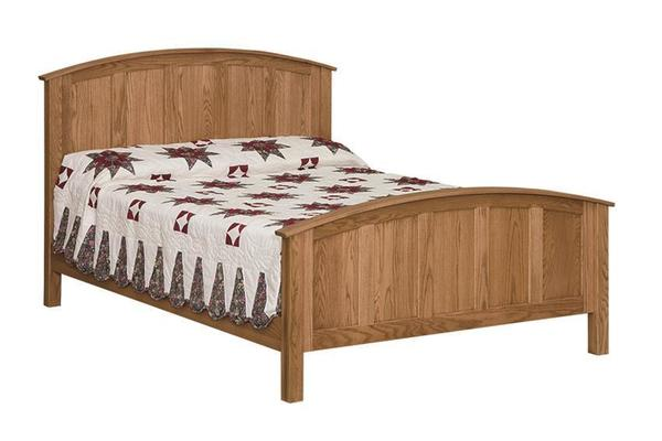 Amish Shaker Classic Curved Bed