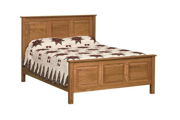 Amish High Panel Bed