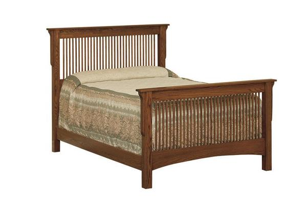 Amish Thin Slat Mission Bed