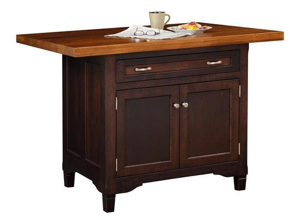 Amish Lexington Kitchen Island with One Drawer and Two Doors