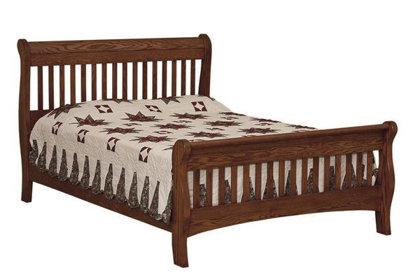 Amish Mission Picket Sleigh Bed